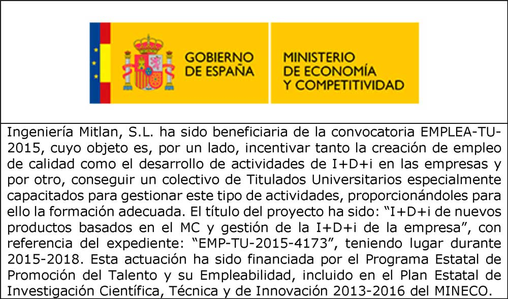 Incentive Ministry of Economy and Competitiveness