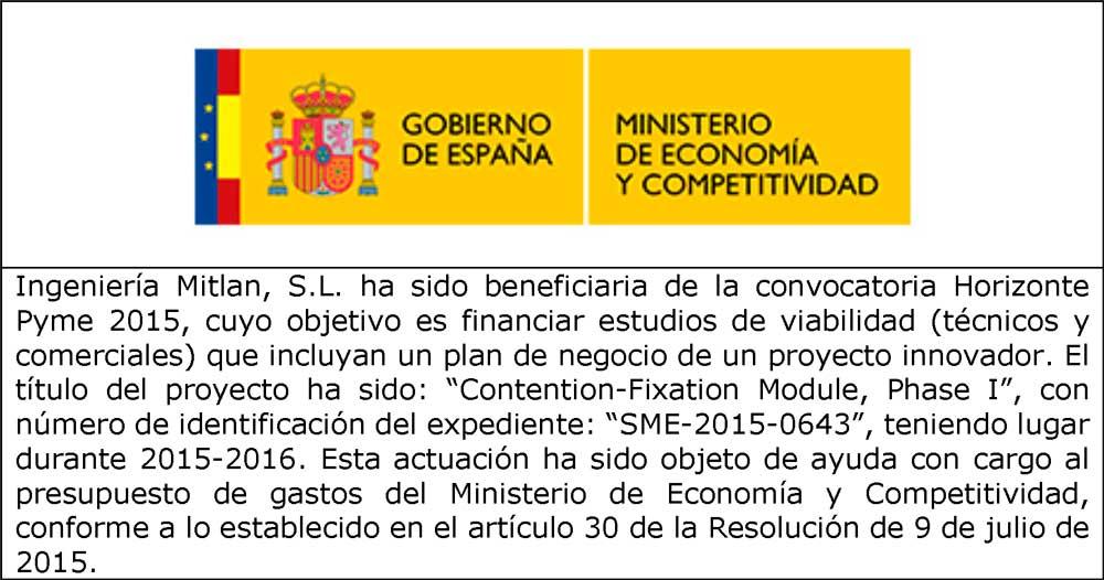 Incentivo Ministerio de Economía y Competitividad - Mitlan